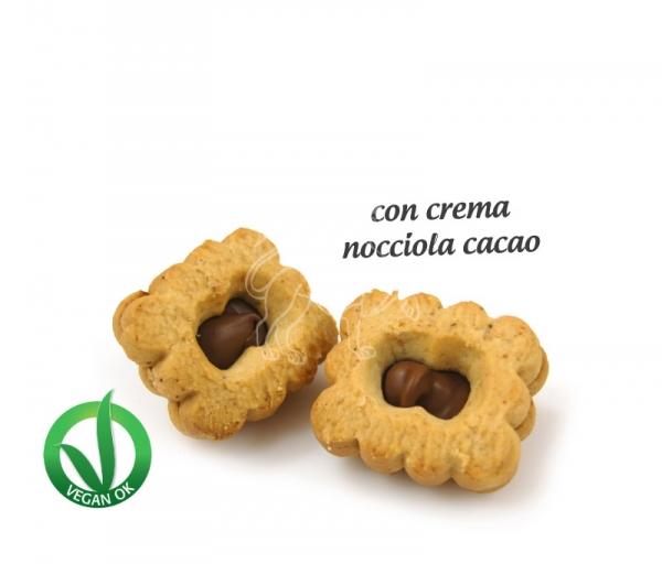 Quadratino tre farine | Nocciola cacao