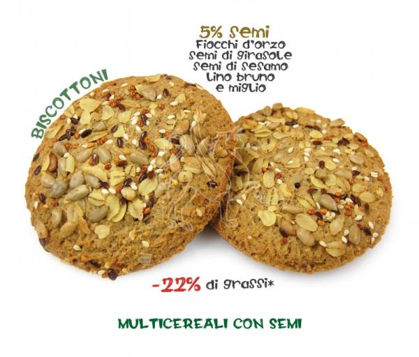 Biscottone multicereali con semi